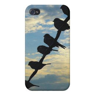 Pájaros en un alambre iPhone 4 fundas