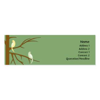 Pájaros en un árbol - flaco plantilla de tarjeta de negocio