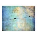 Pájaros en un arte de Digitaces del alambre Tarjeta Postal