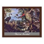 Pájaros en un paisaje de Roelant Savery Invitación 10,8 X 13,9 Cm