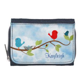 Pájaros en una cartera personalizada rama