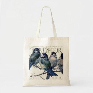 Pájaros en una rama bolsa tela barata