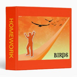 """Pájaros en vuelo carpeta 1 1/2"""""""