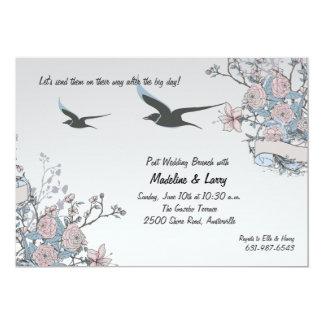 Pájaros en vuelo invitación 12,7 x 17,8 cm