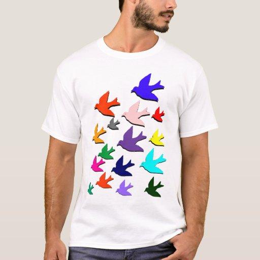 Pájaros en vuelo playera