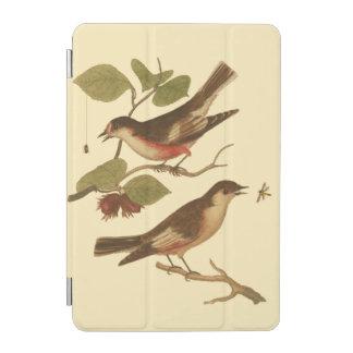 Pájaros encaramados en las ramas que comen cubierta de iPad mini