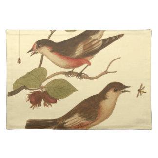 Pájaros encaramados en las ramas que comen mantel individual