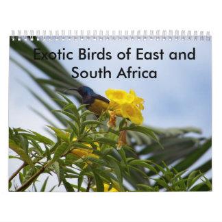 Pájaros exóticos del este y de Suráfrica Calendario