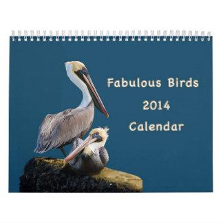 Pájaros fabulosos calendario de 12 meses