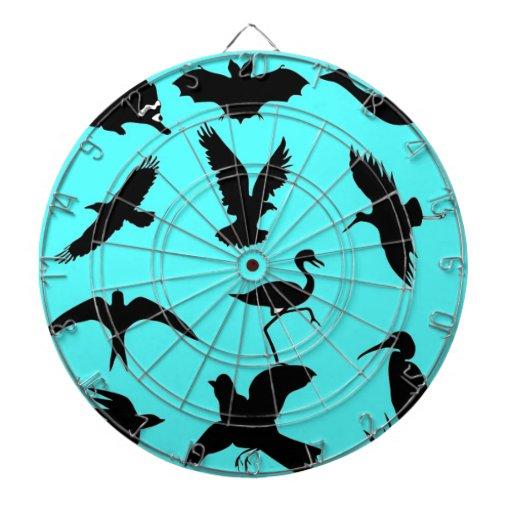 pájaros fiesta y amigos tablero de dardos