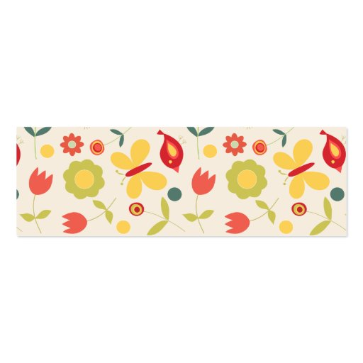 Pájaros, flores y mariposas preciosos tarjeta de negocio