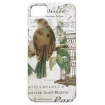 Pájaros franceses y birdcage del vintage moderno iPhone 5 Case-Mate protector