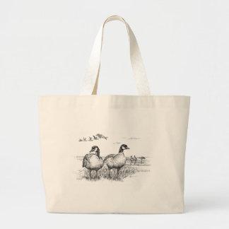 Pájaros/gansos de Canadá del Aleutian Bolsa Tela Grande