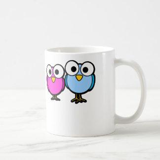 Pájaros Googly del ojo - taza del café con leche