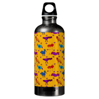 Pájaros - halcones púrpuras abstractos y pollos