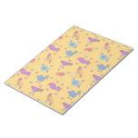 Pájaros - halcones púrpuras abstractos y pollos az bloc de papel