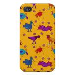 Pájaros - halcones púrpuras abstractos y pollos az iPhone 4 fundas