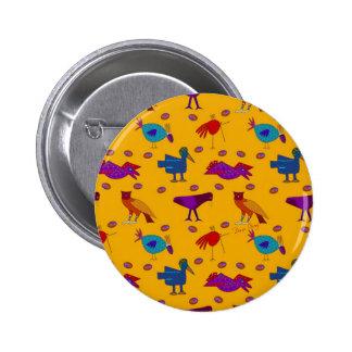 Pájaros - halcones púrpuras abstractos y pollos az pin
