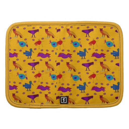 Pájaros - halcones púrpuras abstractos y pollos az organizadores