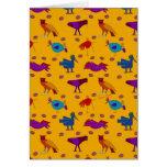 Pájaros - halcones púrpuras abstractos y pollos az tarjeta