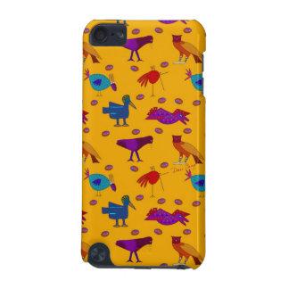 Pájaros - halcones púrpuras abstractos y pollos carcasa para iPod touch 5G