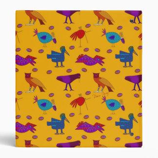 """Pájaros - halcones púrpuras abstractos y pollos carpeta 1"""""""