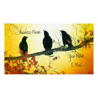 Pájaros hermosos de la naturaleza tarjetas de visita