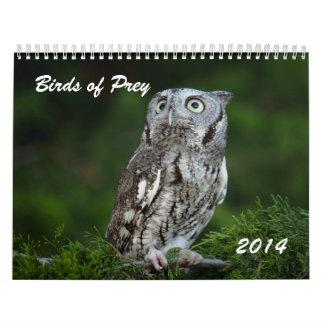 Pájaros impresionantes del calendario 2014 de la f