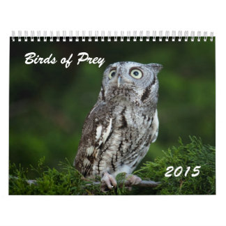 Pájaros impresionantes del calendario 2015 de la