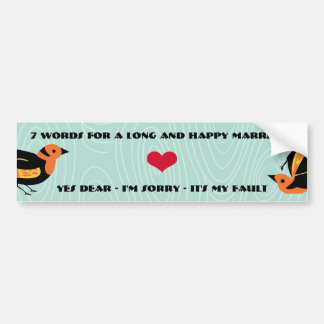 Pájaros lindos 7 palabras para una boda larga y pegatina para auto