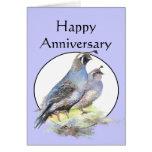 Pájaros lindos de las codornices de California del Tarjeta De Felicitación