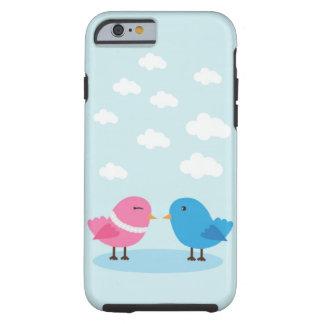 Pájaros lindos del amor en el iPhone 6 del cielo, Funda Para iPhone 6 Tough