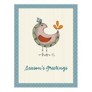Pájaros locos tarjeta postal