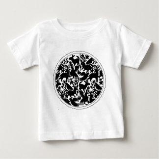 PAJAROS NEGROS CIRCULO BLANCO PRODUCTS BABY T-Shirt