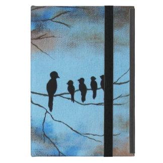 Pájaros negros en el día de madre del arte iPad mini funda