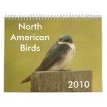 Pájaros norteamericanos 2010 calendario