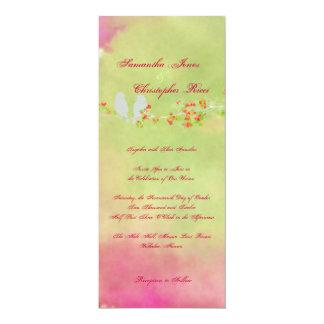 Pájaros originales del amor de PixDezines en Invitación 10,1 X 23,5 Cm