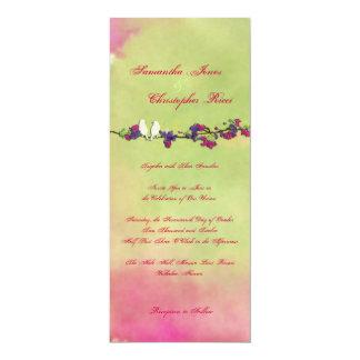 """Pájaros originales del amor de PixDezines en Invitación 4"""" X 9.25"""""""