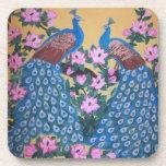 Pájaros paradisíacos del peafowl del paon de los posavasos