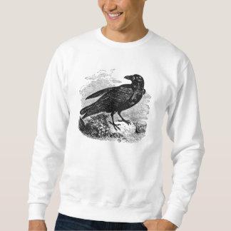 Pájaros personalizados cuervo del pájaro del negro sudadera