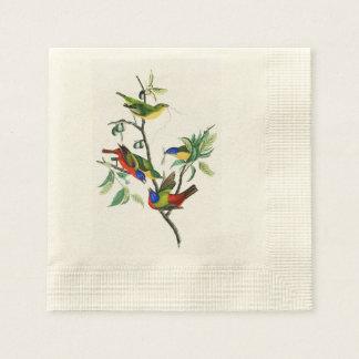 Pájaros pintados de John James Audubon del pinzón Servilleta Desechable