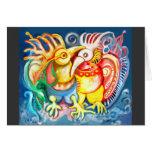 Pájaros precolombinos tarjeton