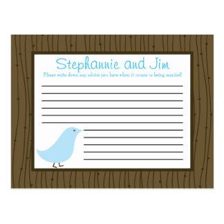 Pájaros programables del amor de la tarjeta del co postales