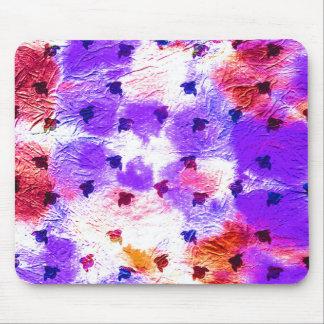 Pájaros púrpuras rosados modernos del papel del tapete de ratón