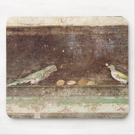 Pájaros que comen nueces alfombrilla de raton