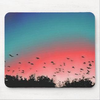 Pájaros que vuelan arriba mousepads
