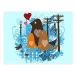 Pájaros retros frescos del vintage tarjeta postal