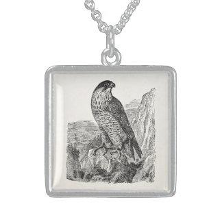 Pájaros retros personalizados del halcón de colgante cuadrado