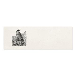 Pájaros retros personalizados del halcón de tarjetas de visita mini