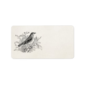 Pájaros retros personalizados pájaro del usignuolo etiqueta de dirección